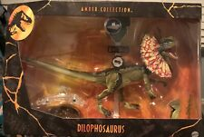 Mattel Jurassic Park Dilophosaurus 6-Inch Amber Collection Figure IN STOCK