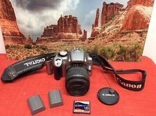 Canon EOS 350D / Digital Rebel XT 8MP DSLR camera +18-55mm lens, 2 batt, 1GB CF
