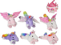 1pce 20cm Rainbow Metallic Unicorn/Pegasus Plush Novelty Toy