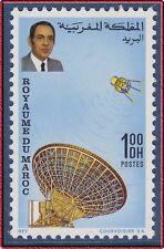 1970 MAROC N°605** Hassan II , Satellite , TELECOMMUNICATION, 1970 MOROCCO MNH