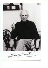 GEORGE MARTIN HAND SIGNED 4x6 PHOTO      LEGENDARY BEATLES PRODUCER     JSA