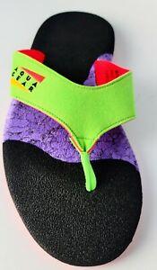NOS Nike Aqua Gear Aqua Thong Sandals Marine Green White Water Slides Size 8
