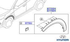 Genuine Hyundai Tucson porta MODANATURA LATERALI (ANTERIORE), LH - 87711d7000