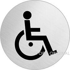"OFFORM Türschild l Schild l ""Rollstuhl / Behinderten"" l Ø 75 mm l Nr. 39058"