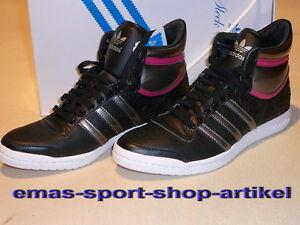 adidas TOP TEN HI SLEEK Gr.UK-6,5 Fb.BLACK/SIL/CORMAG G17850