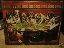 New Tin Sign- Poker Dogs