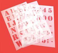 Alphabet Schrift -Schablonen Druck - Buchstaben  ABC groß, abc klein oder Zahlen