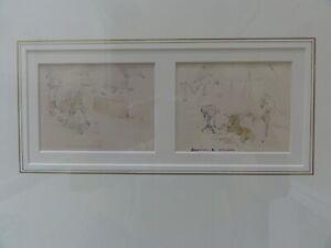 ORIGINAL FRAMED WATERCOLOUR WASH & PENCIL BY WILLIAM STRUTT 1825-1915