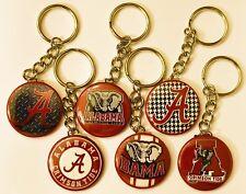 Set of 6 Key Chains ALABAMA CRIMSON TIDE Key Chain