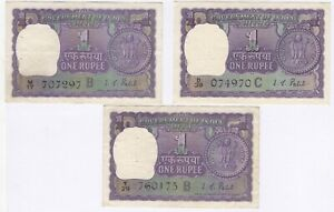 1968 India 1 One Rupee Bank Notes   Pennies2Pounds