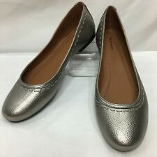 NEW Frye & Co Women's 10 Toshia Stitch Ballet Flat Black Pewter Shoes Slip-On