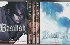BASILISK tomes 1 à 5 Yamada Segawa MANGA seinen série COMPLETE nouvelle édition