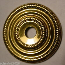 """Escutcheon Plate 1"""" inch Bright Brass Dresser Cabinet Drawer Door NOS LOT of 4"""