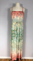 Soma Intimates Multicolored Floral Print Spaghetti Strap Maxi Dress Women's XS?