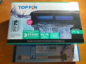 Top Fin Silentstream PF75 Power Filter and H200 Heater