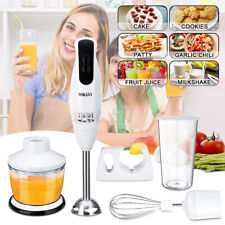 1000W Electric Stick Hand Blender Mixer Whisk Baby Food Fruit Grinder Juicer Set