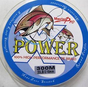 100% PE(Dyneema) Braid Fishing Line 20LB 300M Fluorescein Yellow, Fishing Tackle