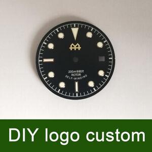 30.4mm Black DIY custom Watch Dial for Unitas ETA 2824/2836 Miyota 82 movement