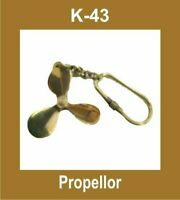 PROPELLOR SHAPED NAUTICAL KEY RING KEYCHAIN KEY FOB KEY BRASS MADE