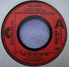 THE WHO You Better You Bet JUKEBOX ISSUE UK POLYDOR Mod Beat Rock