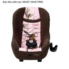 Girl's Pink Convertible Car Seat Infant Toddler Safety Realtree Safe Travel Camo
