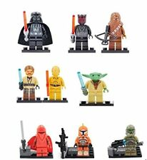 9 PCS STAR WARS  MINI FIGURES FITS LEGO DARTH VADER MAUL YODA CAKE TOPPERS PARTY