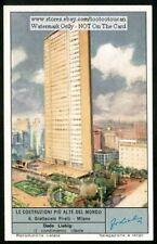 Grattacielo Pirelli Building Milan Italy c50 Y/O Trade Ad  Card