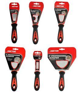 Dekton Professional Scrapers Paint Fill Knife Decorators Scraper Stainless Steel