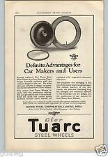1921 PAPER AD Tuarc Steel Wheels Car Auto Automobile Lansing Mich