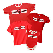 ALBANIA Retro Strip T-Shirt Olympics *Choice Of MENS LADIES KIDS BABY GROW*