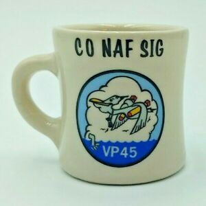 US Navy VP45 Patrol Squadron 45 Coffee Cup / Mug, Naval Air Facility, Sigonella