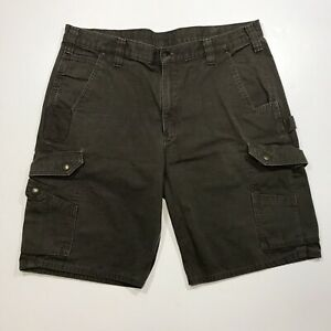 "Mens Carhartt Relaxed Cargo Shorts, Size 38, Length 10"" Dark Gray"