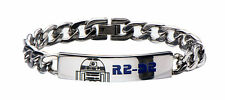 Star Wars R2D2 ID Curb Chain Stainless Steel Bracelet