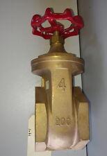 """4"""" Brass Gate Valve  200WOG PS10"""