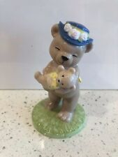 B&G Bing & Grondahl 2002 Victoria Porcelain Teddy Bear Figurine Mother Baby Blue