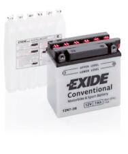 Batterie moto Exide 12N7-3B 12V 7AH 80A 135X75X135MM ACIDE COMPRIS
