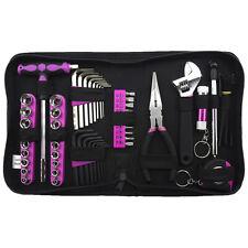 "85pc PINK Tool Kit Womens Hand Tools Set 1/4"" Sockets Pliers Tape Measure 88465"