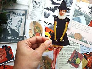 50 Vintage Paper Doll Vintage Witch Paper Doll Card Making Junk Journal Card