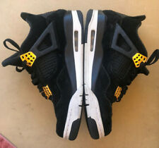 Nike Air Jordan IV 4 Retro Royalty 308497-032 Black Suede w/ Gold Mens Size 8.5