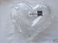 "Vintage Mikasa Crystal Christmas Bloom 8 1/4"" Heart Dish Made In Germany"