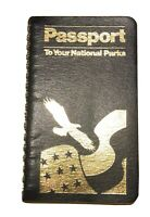 Passport to your National Parks spiral book w Cancelations Copyright 1994