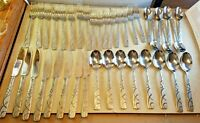 Vintage Lot 39 Cambridge Stainless Conquest Flatware Forks Spoons Knives