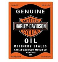 HARLEY DAVIDSON OIL TIN SIGN - GAS STATION METAL POSTER WALL ART