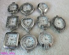10 PCS Mixed styles Silver Quartz Beading Watch face M8464