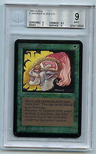 MTG Alpha Llanowar Elves Graded BGS 9.0 (9) Mint card Magic the Gathering 0086