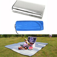 Waterproof 1x2m Outdoor Camping Mattress Picnic Pad Aluminum Foil EVA Mat Silver
