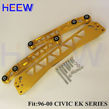 BILLET BWR REAR LOWER CONTROL EK ARM+SUBFRAME BRACE HONDA CIVIC 1996-2000 GOLD