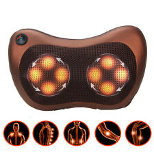 Electric Lumbar Neck Back Massage Pillow Cushion Massager with Heat Car Home Use