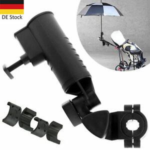 Golftasche Cartbag Regenschirmhalter für Rollstuhl/Rollator/Kinderwagen, Schwarz