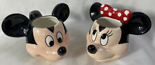 2 Disney Mugs ~ MICKEY & MINNIE Mouse ~ 3D Head